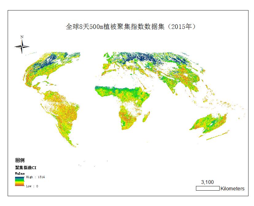 全球植被聚集指数产品
