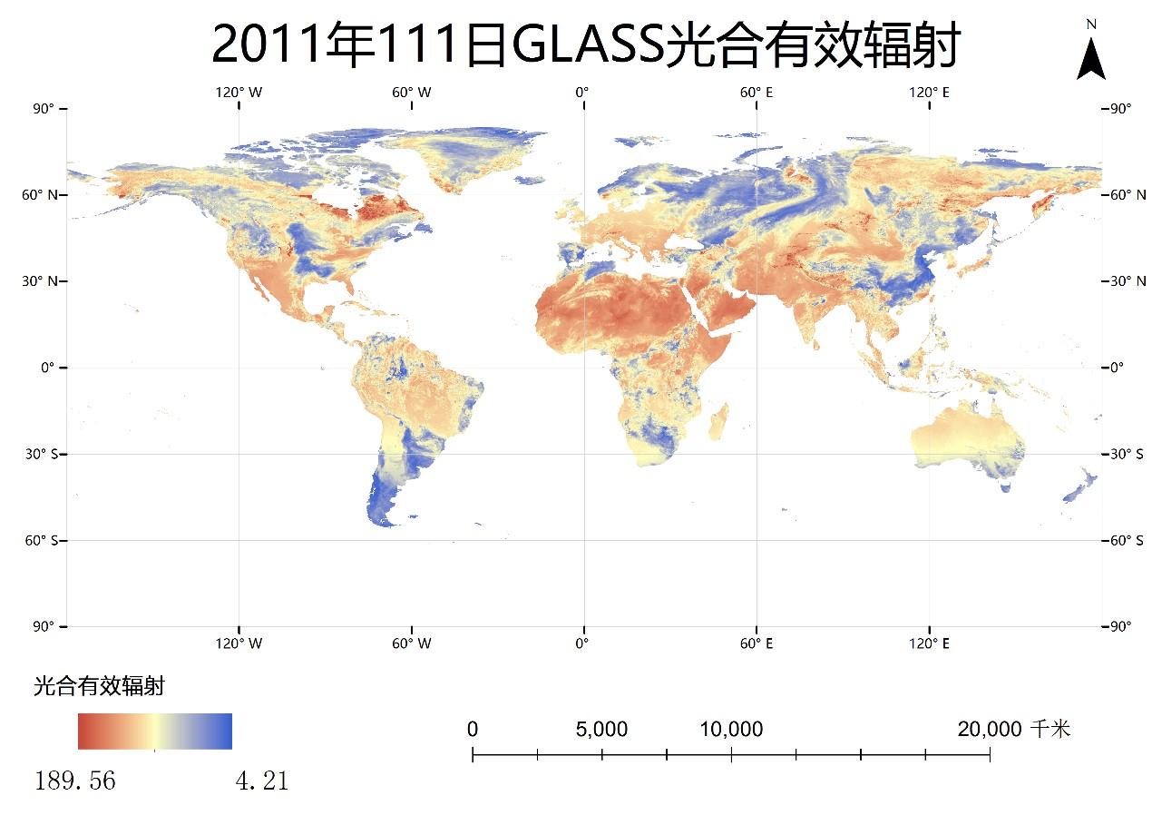 光合有效辐射PAR_modis(0.05°)